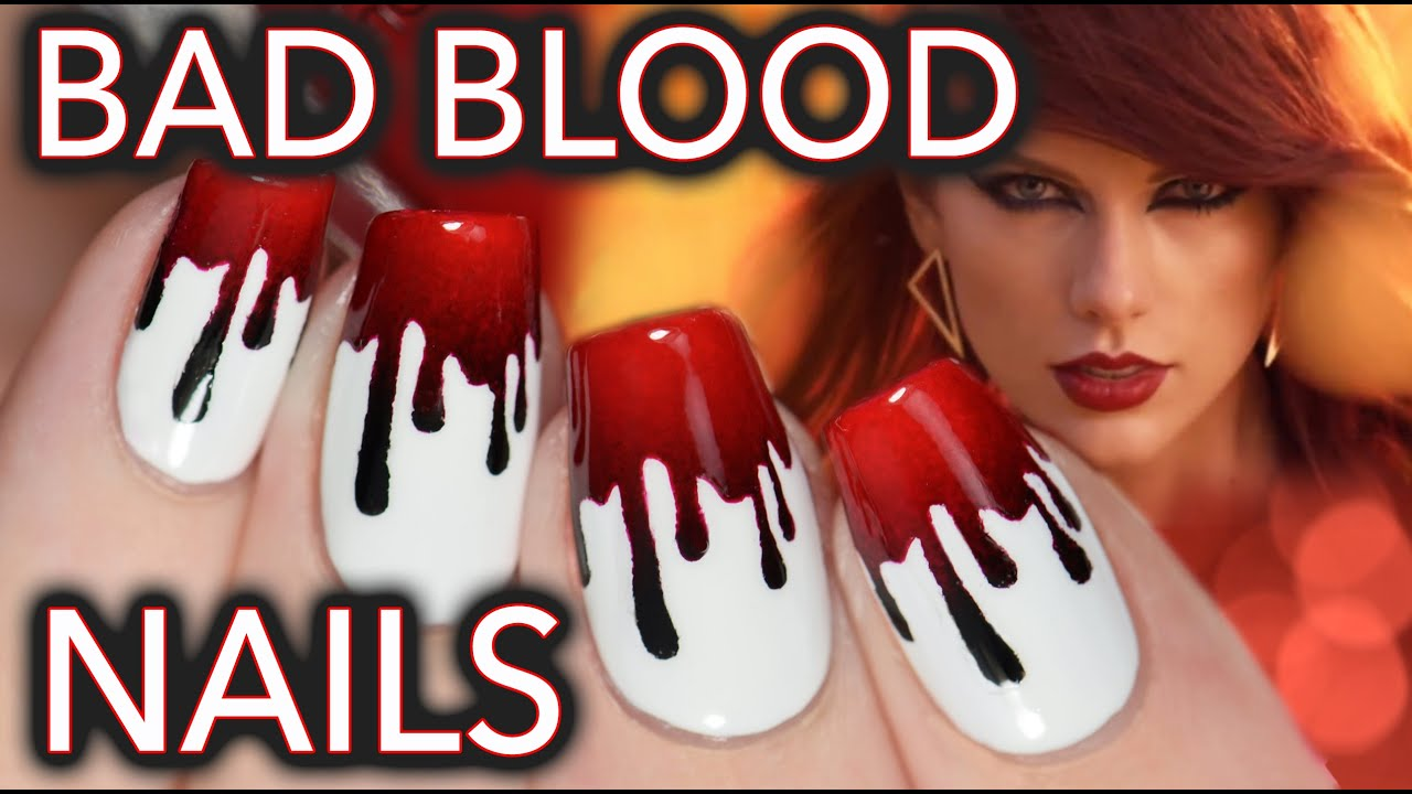 Taylor swift bad blood nail art youtube prinsesfo Choice Image