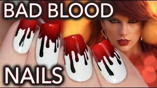 Taylor Swift Bad Blood nail art!