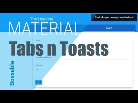 Bossable.com: Intro to AngularJS Material Design Tabs, Forms & Toasts