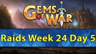 ⚔️ Gems of War Raids | Week 24 Day 5 | Stormcaller Event, Team Testing, and Raids ⚔️