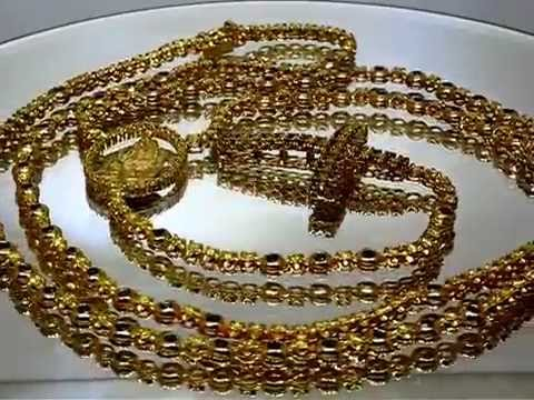 men's-14k-yellow-solid-gold-diamond-rosary-chain-with-yellow-and-black-diamonds
