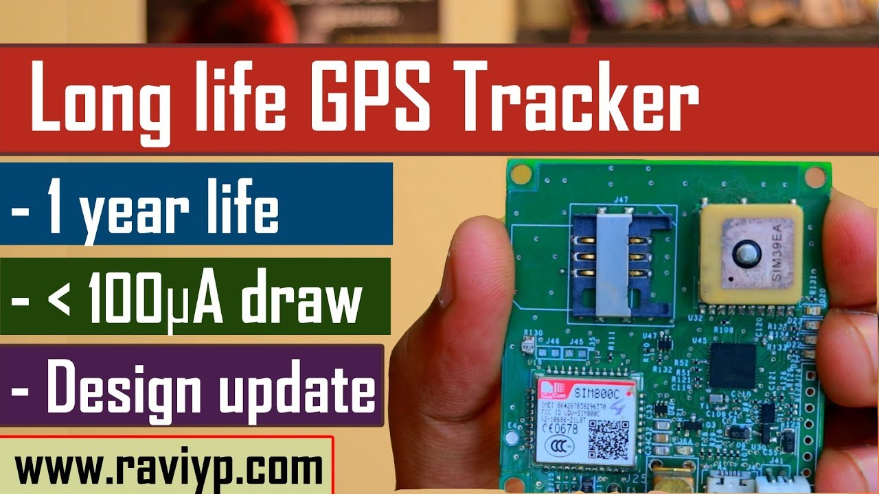 GPS Tracker with LONG battery life - Lasts more than a year