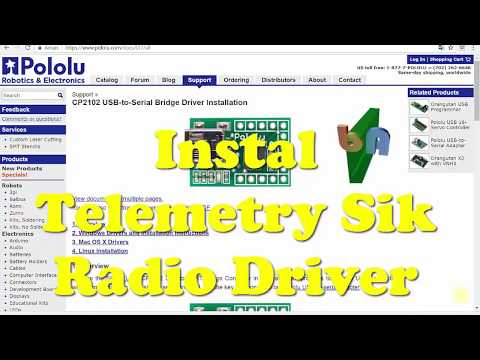 APM (FC) - Telemetry Sik Radio Connection Error Fix (Driver CP2102