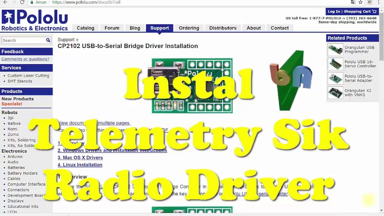 APM (FC) - Telemetry Sik Radio Connection Error Fix (Driver CP2102)
