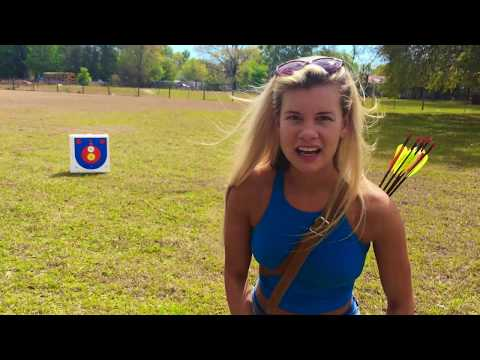 My 1st Time shooting 3d Archery ~ Samick Sage ReCurve Bow Review