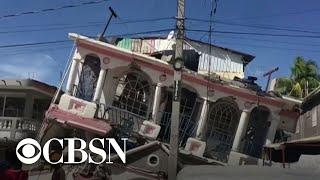 """""""Violent"""" earthquake strikes Haiti"""
