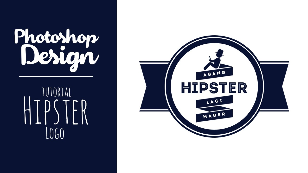PHOTOSHOP : Membuat logo Hipster Vintage/Retro Design : INDONESIAN ...
