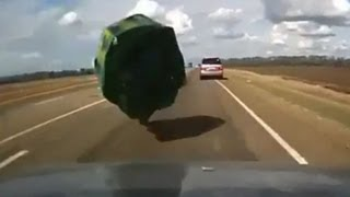Boat Crashes Into Car on the Highway