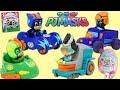 PJ MASKS Catboy & Gekko vs Romeo & Night Ninja in Epic Race Car Battle!