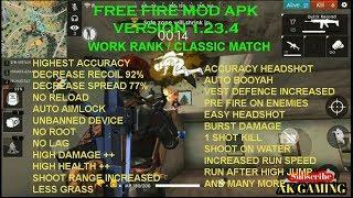 Free Fire MOD Apk 1.24.4, Super Accuracy, High Damage, Auto Aim, No Recoil, No Spread, 1 Shot Kill