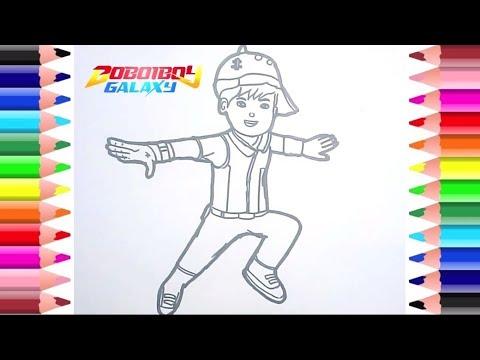 Cara Menggambar Dan Mewarnai Boboiboy Daun Dari Film Boboi Boy Galaxy Youtube