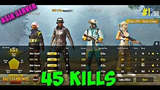 We did 45 SQUAD Kills with MORTAL in Asia Server | Pubg Mobile Conqueror Gameplay | Soul Clan