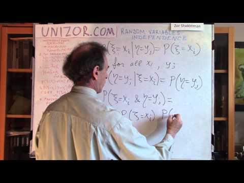 Unizor - Probability - Random Variables - Independence