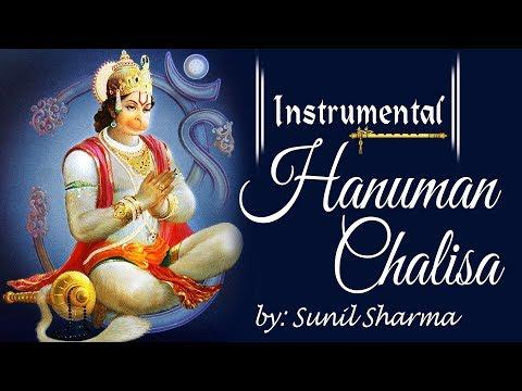 Instrumental Chalisa ! Hanuman Chalisa On Flute With Hindi Lyrics By Sunil Sharma