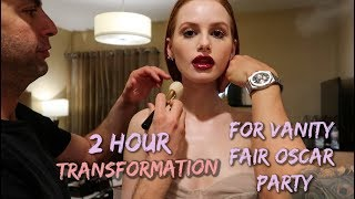 2 hour vanity fair Oscar party transformation | Madelaine Petsch
