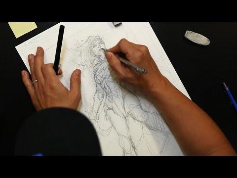 Wonder Woman Exclusive Teaser of Jim Lee Drawing