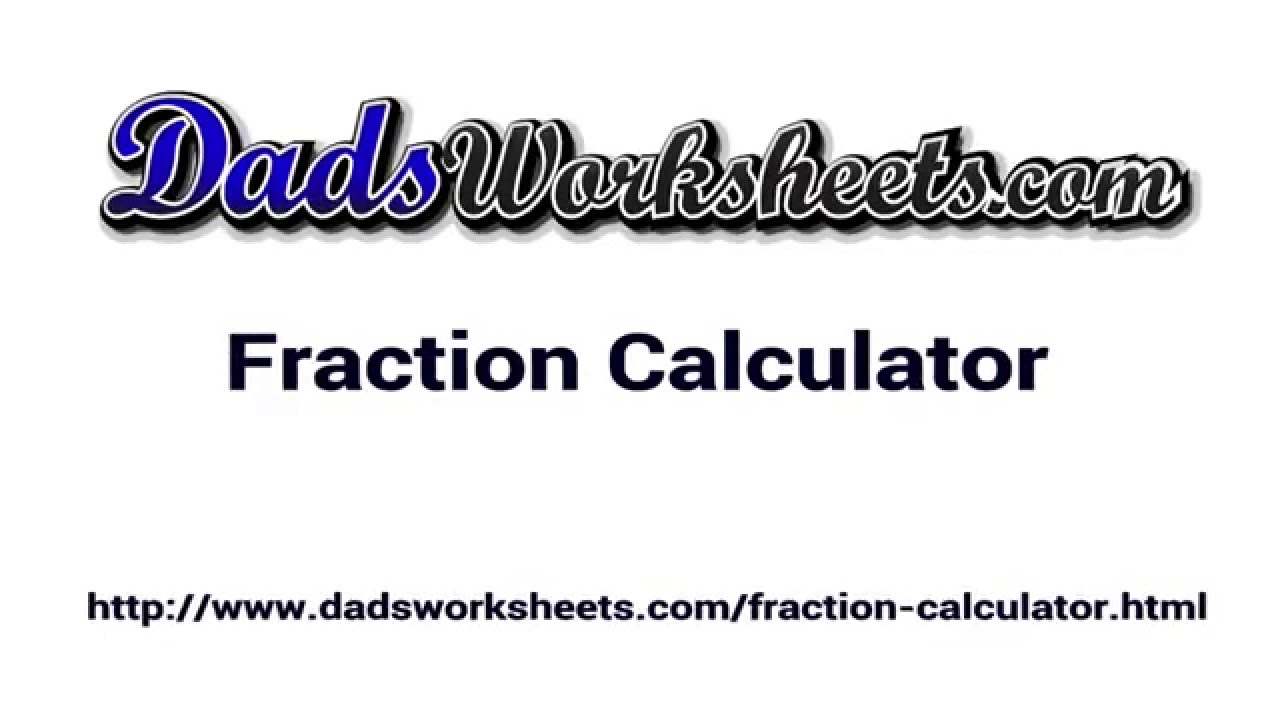 hight resolution of Fractions   DadsWorksheets.com