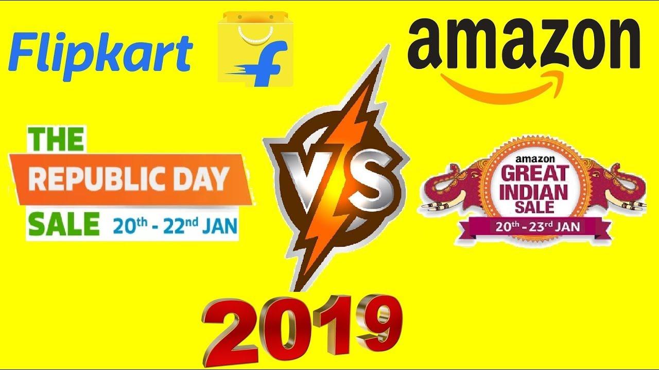 d86edbdd066 Flipkart Republic day sale vs Amazon Great Indian Sale 2019 - YouTube