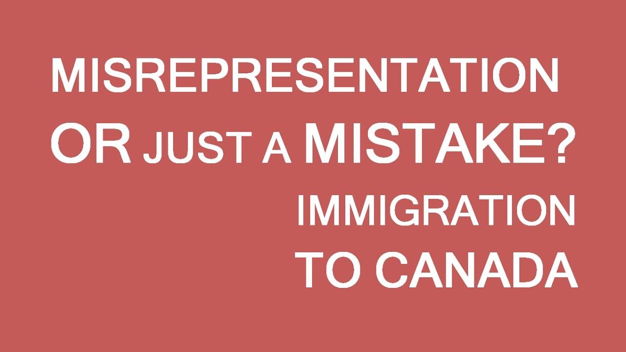 distinguish between mistake and misrepresentation