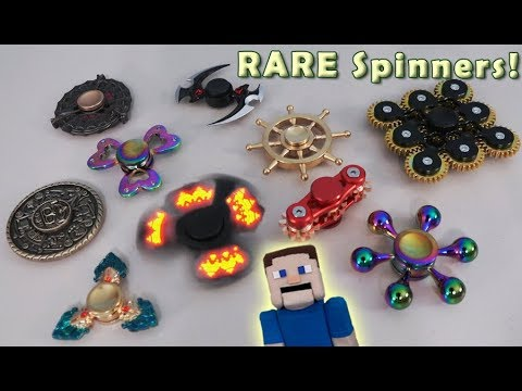 Thumbnail: FIDGET Spinners Top 10 NEW Rare Unique Minecraft Part 2 Hand Tricks Hack Naruto Gears Mayan Cubes