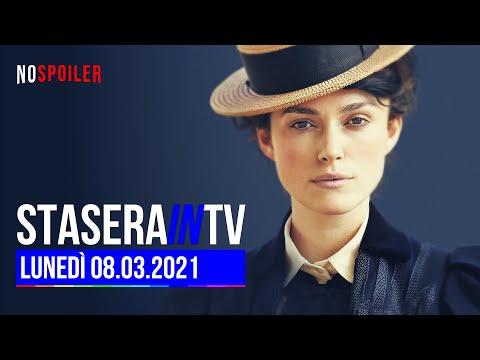 Stasera in TV   Programmi e Film in tv oggi lunedì 8 marzo 2021