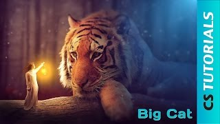 Big Cat - Photo Manipulation Tutorial ( #Photoshop )   CreativeStation