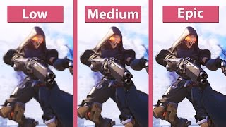 Overwatch (Beta) – PC Low vs. Medium vs. Epic Graphics Comparison [FullHD][60fps]