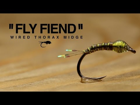 Wired Thorax Midge Fly Tying Tutorial | The Fly Fiend.
