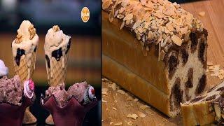 أيس كريم التمر - أيس كريم شيكولاتة الدهن - خبز التايجر بالشيكولاتة | زعفران وفانيلا حلقة كاملة