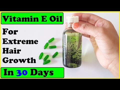 Evion 400 HAIR OIL: HOW TO USE VITAMIN E CAPSULES FOR HAIR GROWTH & HAIR FALL
