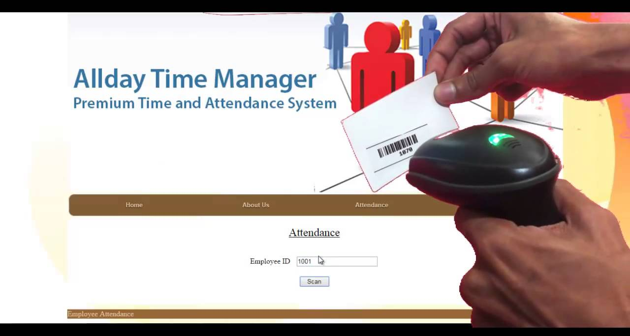 employee attendance system by barcode scan youtube