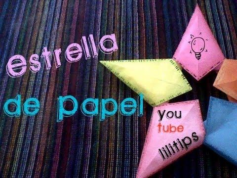 Estrella de papel regalo bueno bonito y barato youtube - Estrellas de papel ...