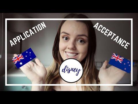 Disney Cultural Exchange Program    Australian and New Zealand Application/Acceptance process