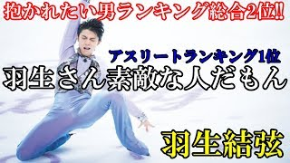 羽生結弦が抱かれたい男ランキング総合2位に輝く!!カッコイイ!!衝撃!!ア...