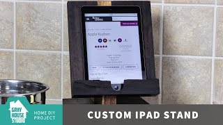 Building A Custom Wood Ipad Stand