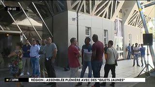 Région : assemblée plénière avec des Gilets Jaunes