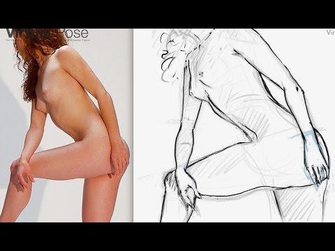 Virtual Pose ® Holistic Drawing Session 1