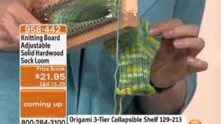 Knitting Board Adjustable Solid Hardwood Sock Loom