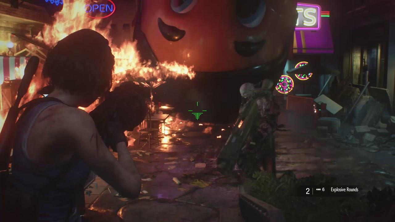 Resident Evil 3 Nemesis Rocket Launcher Boss Fight Youtube