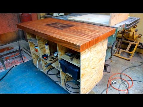 движуха в мастерской - стол для фрезера, рельсопил, электрички, циркуль