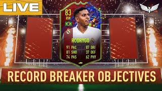 *LIVE* RODRYGO RECORD BREAKERS  OBJECTIVES - FIFA 21 Ultimate Team Live Stream