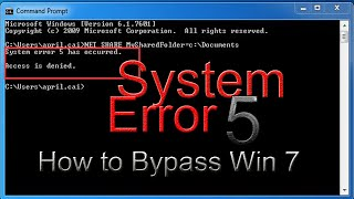 System Error 5:(Windows Hidden Administrator Account) with sound