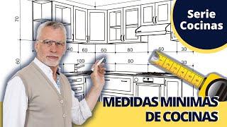 8 Medidas Mínimas para Cocinas  Modernas Integrales  Armarios de Cocina, Muebles y Encimeras.