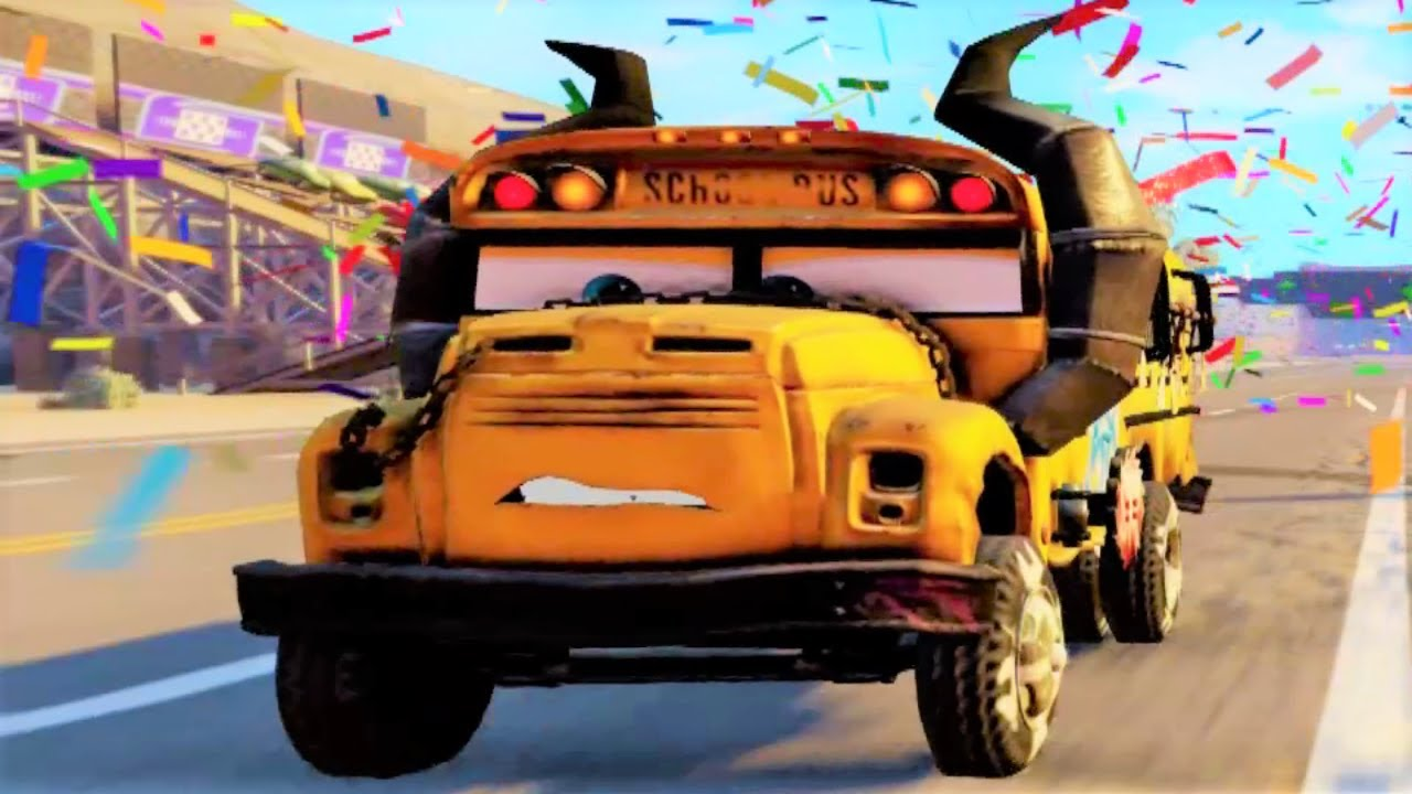 cars 3 driven to win school bus miss fritter racing hd. Black Bedroom Furniture Sets. Home Design Ideas