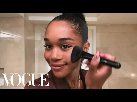 Laura Harrier's Easy Evening Makeup & Skin-Care Routine That Cured Her Acne | Beauty Secrets | Vogue