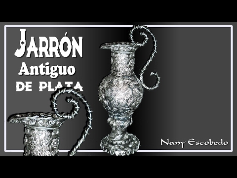 JARRÓN ANTIGUO DE PLATA