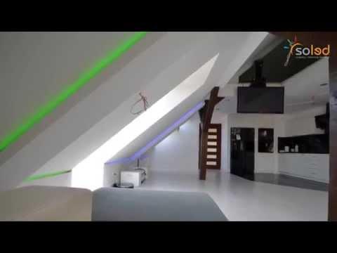 Oświetlenie Apartamentu - Gwieździste Niebo, Pilot Dotykowy, Taśma RGB, Sterowniki RGB