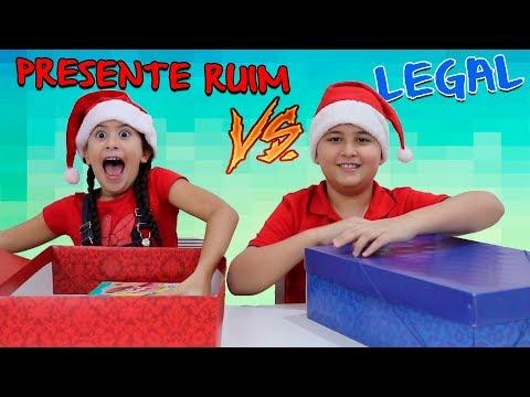 PRESENTE CHALLANGE RUIM Vs LEGAL DE NATAL - Christmas Present Challenge!!!