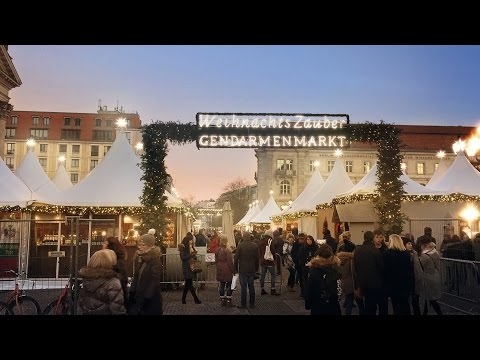 Christmas markets Gendarmenmarkt in Berlin 2016 - Traditional German decorations and foods