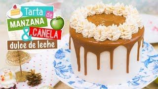 Tarta de manzana, canela y dulce de leche   Recetas navideñas   Quiero Cupcakes!